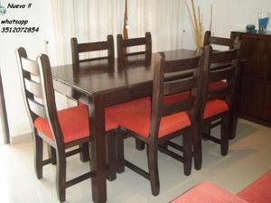 NUEVO !! Comedor 6 sillas !!! Flete sin cargo !!
