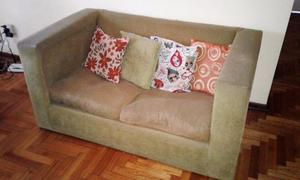 Sillon Sofa Cubo Dos Cuerpos Chenille