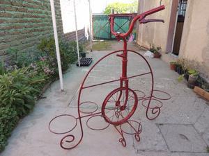 Vendo Bicicleta Porta Macetero para Jardín. Para 9 Macetas