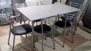 !!! juego de mesa con 6 sillas
