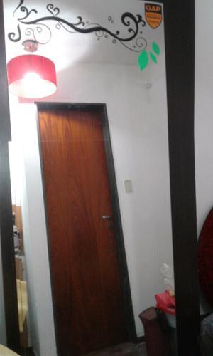 Espejo marco algarrobo excelente estado para pared posot for A que altura colgar un espejo de cuerpo entero