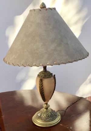 Lámpara De Mármol y Bronce