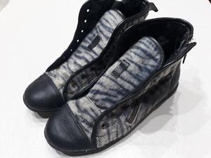 Zapatillas Mujer Con Cierre y Cordon