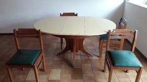juego comedor 6 sillas mesa redonda