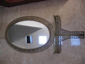 vendo espejo con marco de bronce