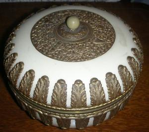 Antiguo Cofre Royal Dux Dorado y natural.Fees Antiguedades