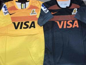 Camiseta rugby jaguares negra amarilla nike super rugby 5b8d4d48c0a