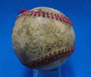 Beisbol Antigua Pelota Bola Autografiada
