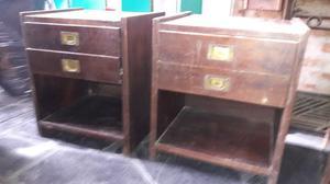 2 mesas de luz con dos cajones y zapatero
