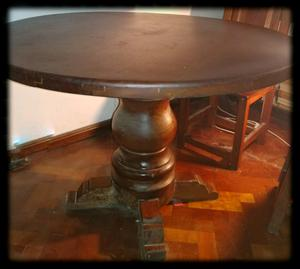 Mesa de algarrobo + 6 sillas