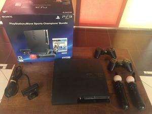 PS3 EXCELENTE ESTADO + MOVE + JUEGOS + AURICULAR