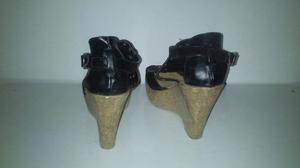 Zapatos negros taco chino corcho Talle 38