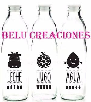 Botellas de vidrio, juego, agua