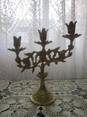 Candelabro Antiguo tres velas