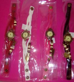Reloj pulsera trenzado vintage varios modelos y colores