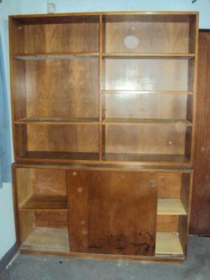 mueble biblioteca enchapado en roble