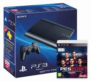 Ps3 Playstation gb Super Slim + Pes  Fisico Sellado