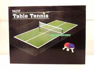 Mini Ping Pong De Mesa Para Niños Y Grandes Incluye Paletas