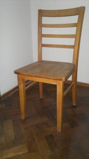 6 sillas guatambú, macizas
