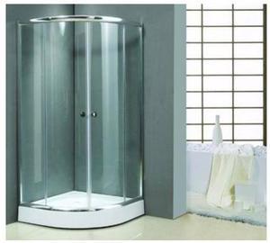 Receptaculo box de ducha 90 x 90 semicircular posot class for Puertas vidrio templado corredizas