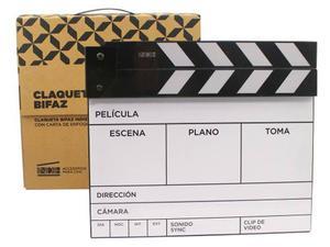 Claqueta De Cine Bifaz Pizarra
