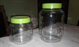 Frascos vidrio con tapa