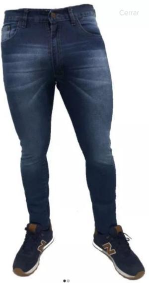 Jeans hombre chupin elastizado talle 46