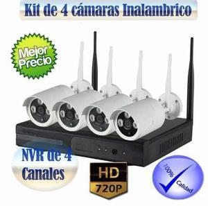 Kit De 4 Cámaras Wifi Imperdible