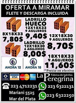 LADRILLOS HUECOS Y COMUNES DIRECTO DE FABRICA