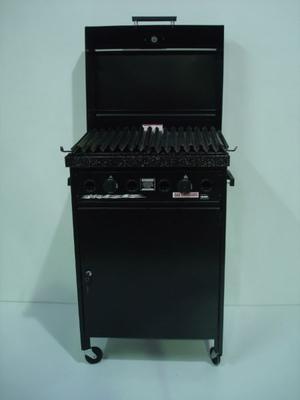 Parrilla A Gas 60x45 Cm Medida Útil Con Tapa Y Mueble