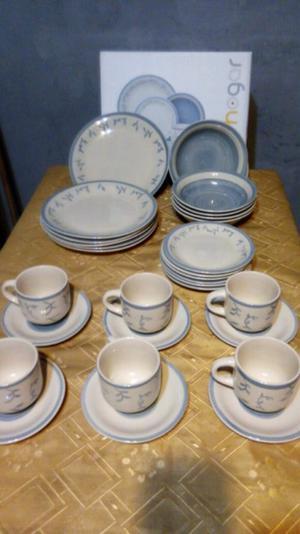 Vajilla cerámica de 30 piezas