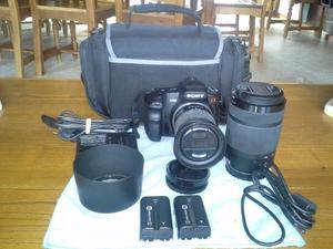 Vendo Cámara reflex Sony Alpha A200 y accesorios