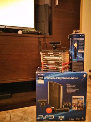 Vendo PS3 + PS Eye + 2 mandos Move y juegos.