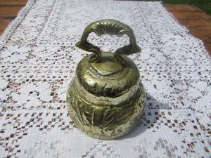Antigua Campana de Bronce Labrado