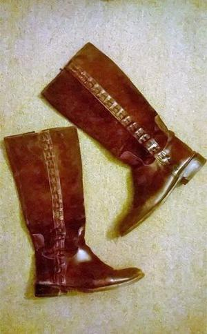 Botas de cuero y gamuza