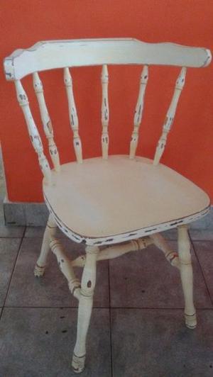 Juego 4 sillas windsor boston antiguas tipo bar madera