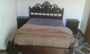 Juego de dormitorio madera maciza