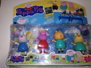 Set 4 Muñecos Peppa Pig Y Sus Amigos Articulados Zona Sur