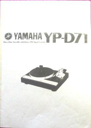 yamaha yp-d71 bandeja tocadiscos manual de usuario --