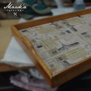Souvenir bandeja individual con decoupage posot class - Bandeja de madera ...