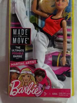 Barbie Made To Move Artes Marciales Original