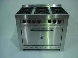 Cocina Industrial 6 Hornallas Marca Corbelli 100x73x85 Cm