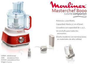 Procesadora Moulinex Masterchef  Con Detalles - Imported