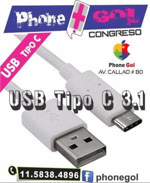Cable Usb Tipo C 3.1 Carga Rapida 1 Metros