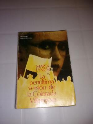 Libro la penúltima versión de la colorada Villanueva