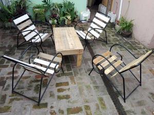 Mesita y 4 sillones para Jardin