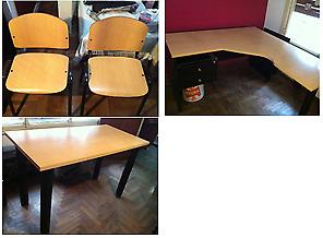 Muebles De Oficina (escritorio, Mesa Y Sillas)