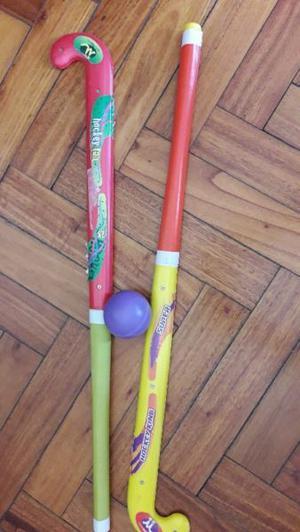 Palos de hockey unisex con bocha de juguete