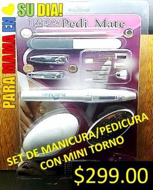 SET DE MANICURA/PEDICURA CON MINI TORNO (ZONA NORTE)