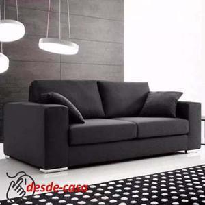 Sillon Sofa 2 Dos Cuepos En Chenille Linea Premium Alta Gama